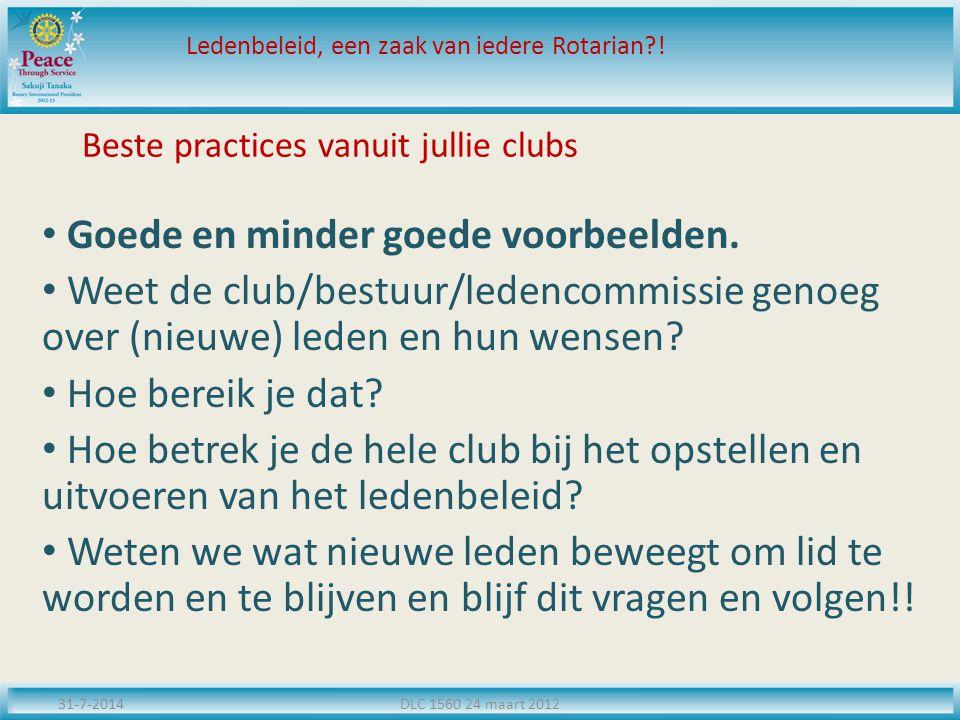 Beste practices vanuit jullie clubs