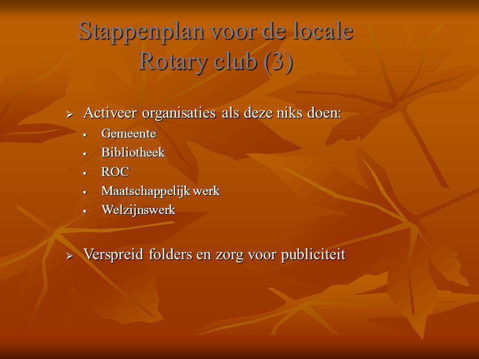Stappenplan voor de locale Rotary club (3)