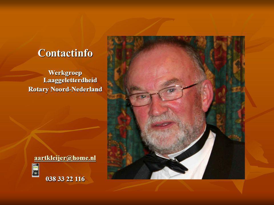 Werkgroep Laaggeletterdheid Rotary Noord-Nederland