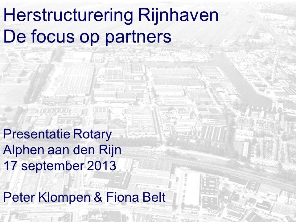 Herstructurering Rijnhaven De focus op partners