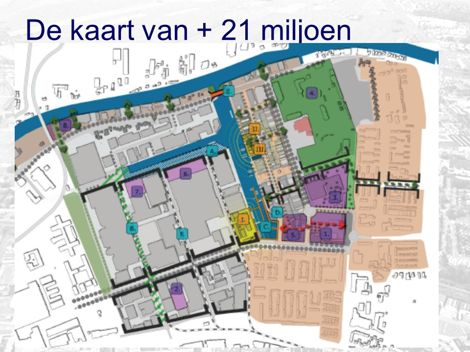 De kaart van + 21 miljoen