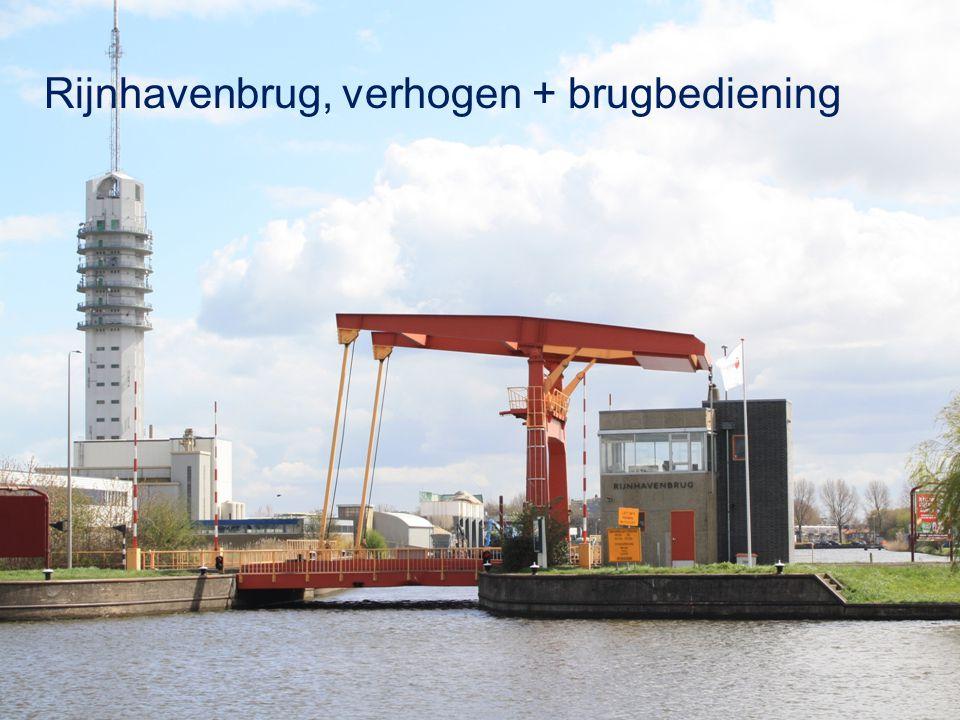 Rijnhavenbrug, verhogen + brugbediening