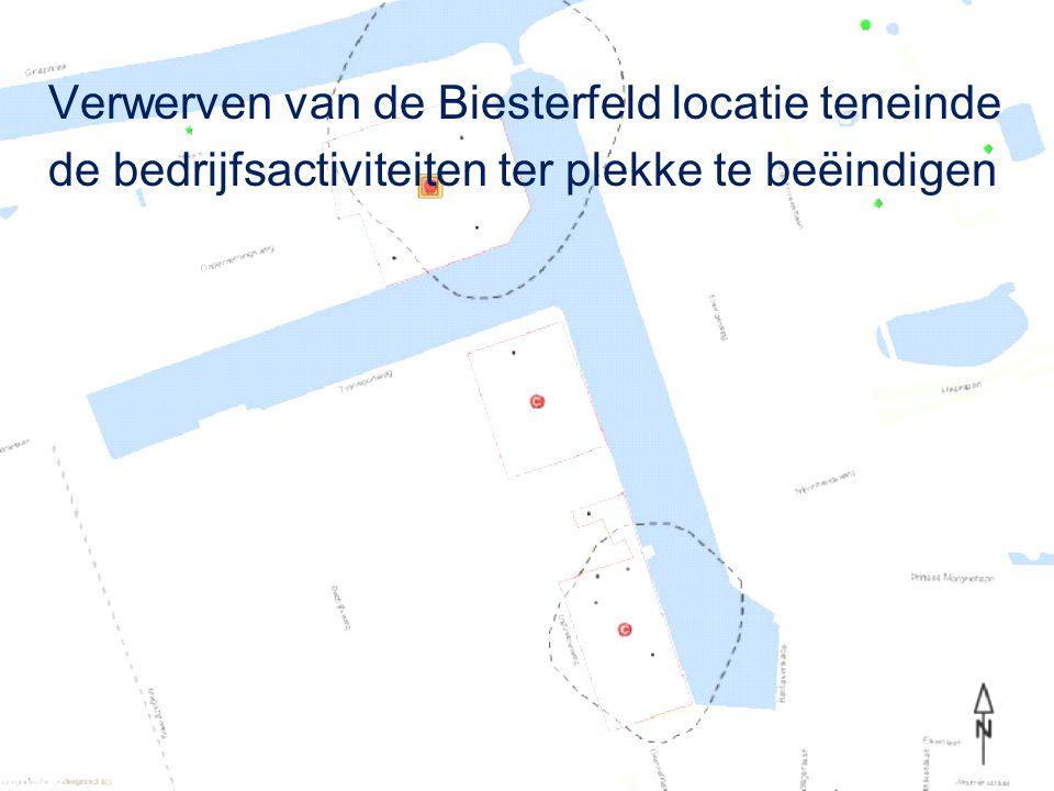 Verwerven van de Biesterfeld locatie teneinde