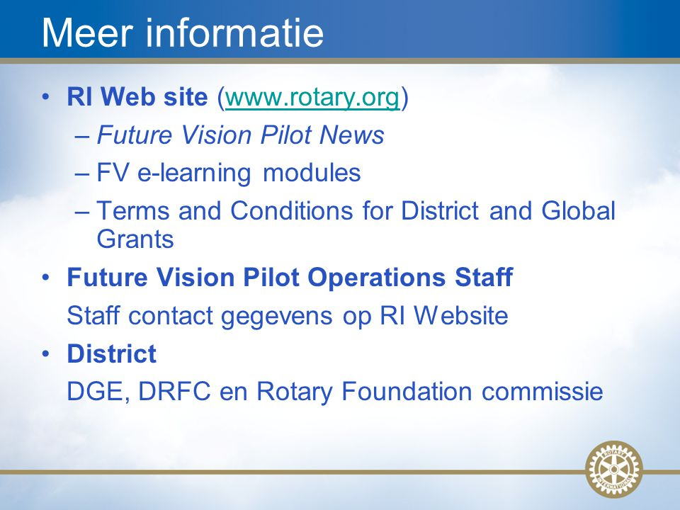 Future Vision Plan Update, Aug 2008