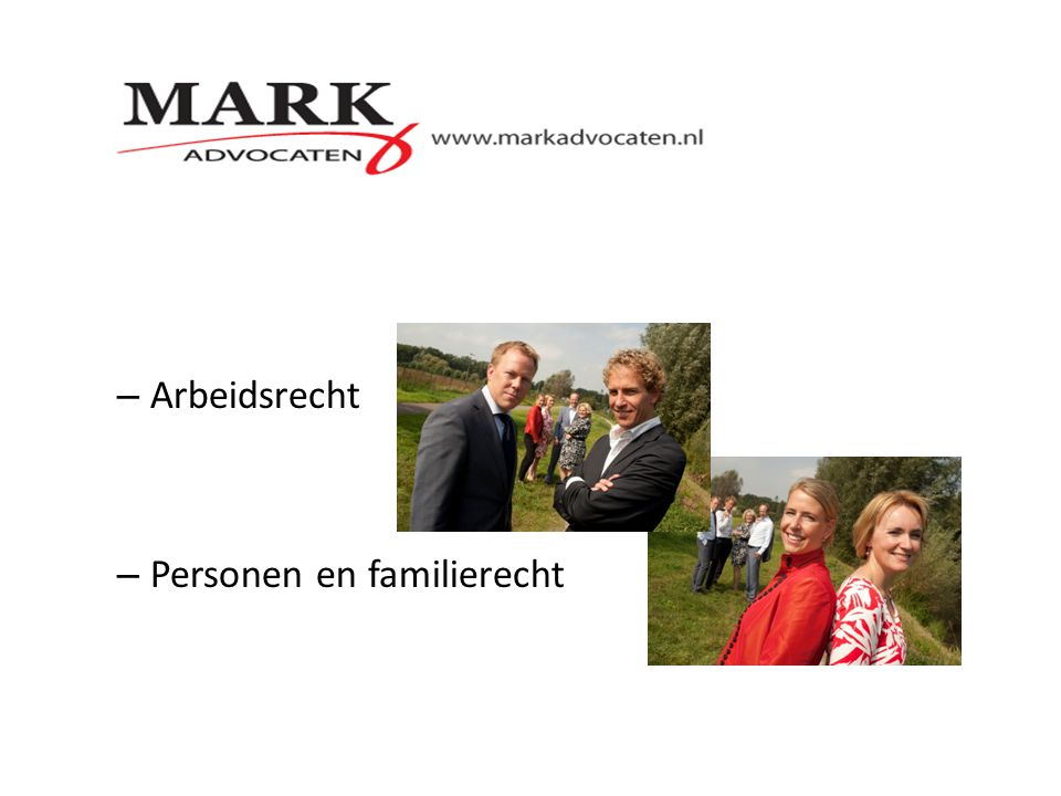 Arbeidsrecht Personen en familierecht