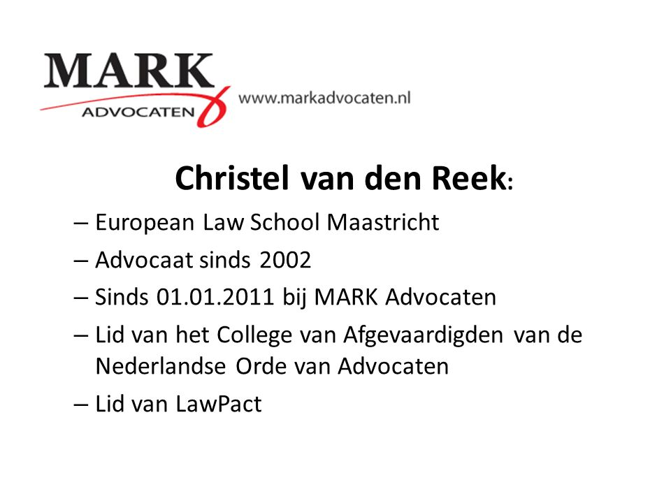Christel van den Reek: European Law School Maastricht