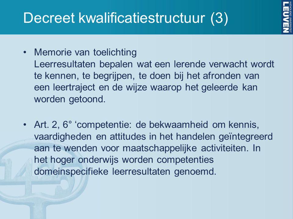 Decreet kwalificatiestructuur (3)