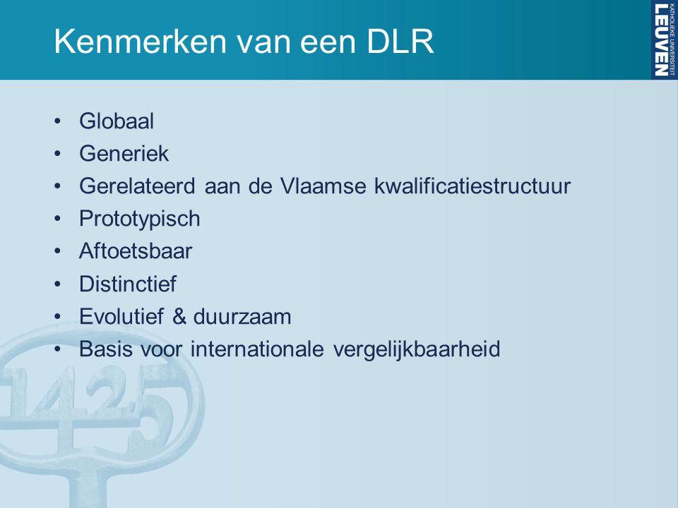 Kenmerken van een DLR Globaal Generiek