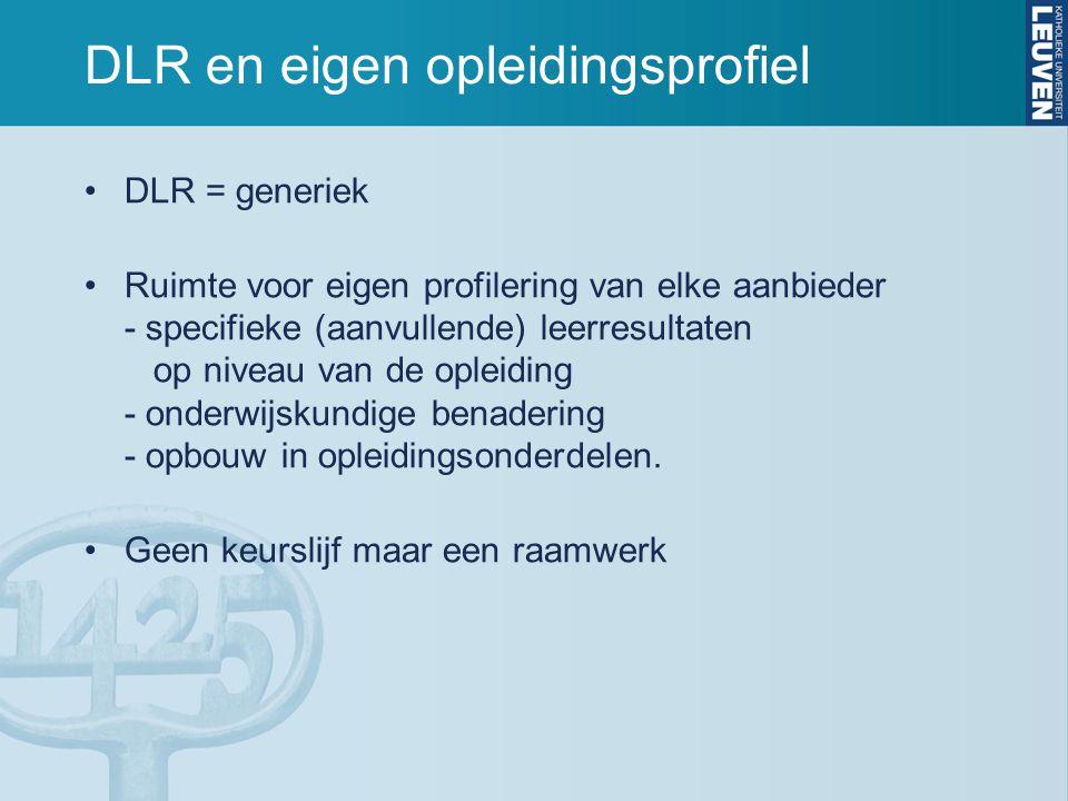 DLR en eigen opleidingsprofiel