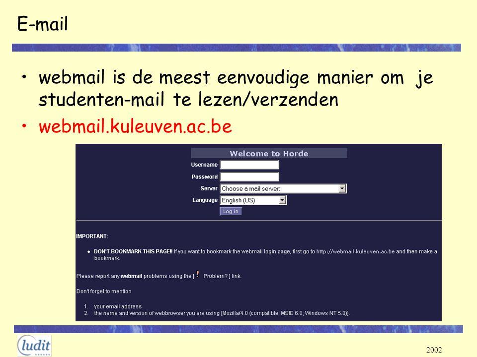 E-mail webmail is de meest eenvoudige manier om je studenten-mail te lezen/verzenden.