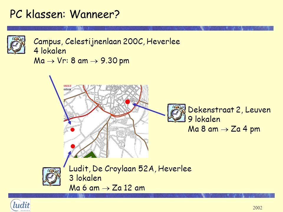 PC klassen: Wanneer Campus, Celestijnenlaan 200C, Heverlee 4 lokalen