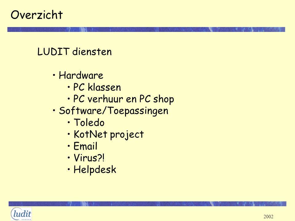Overzicht LUDIT diensten Hardware PC klassen PC verhuur en PC shop