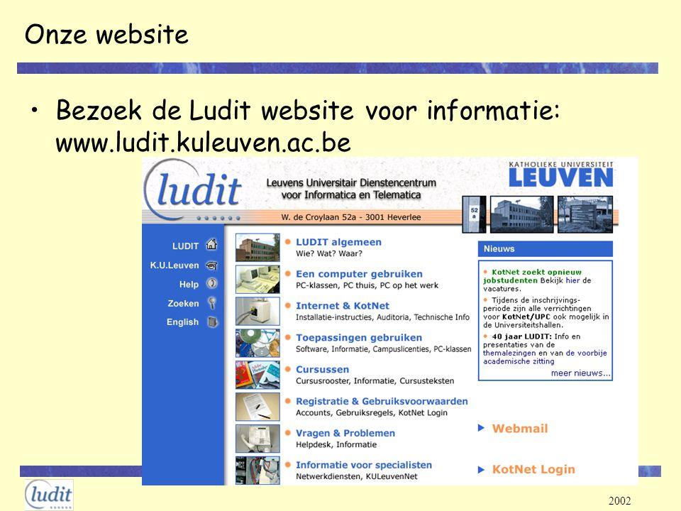 Onze website Bezoek de Ludit website voor informatie: www.ludit.kuleuven.ac.be