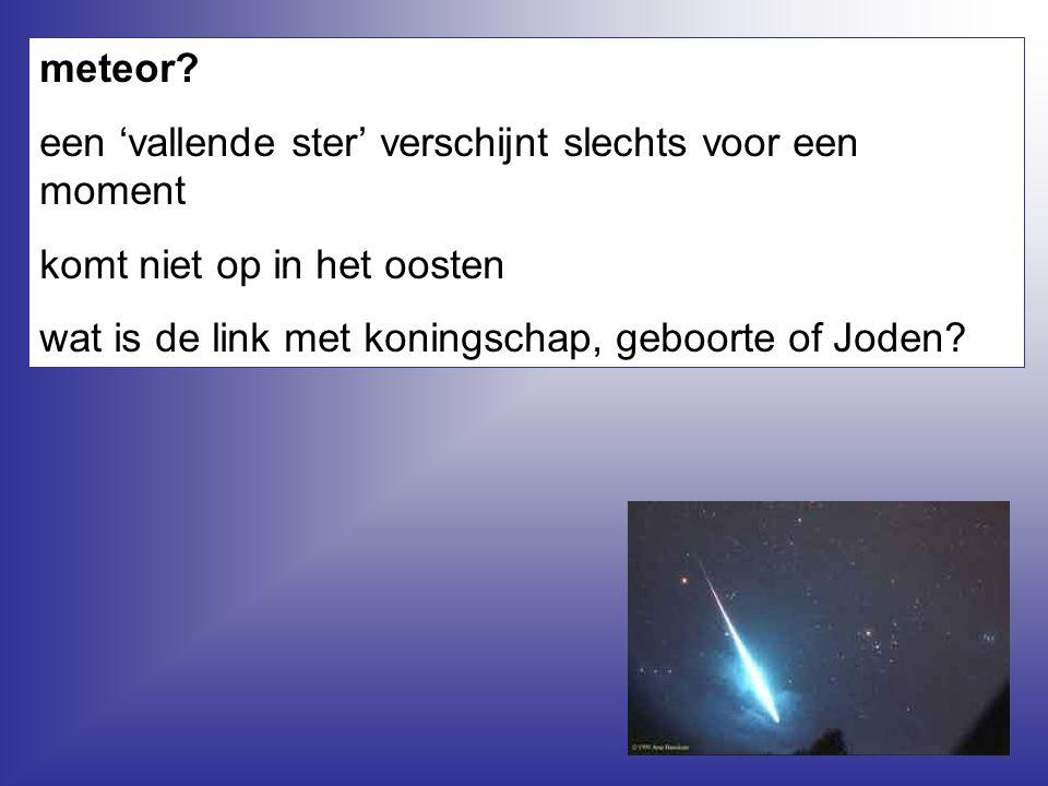 meteor. een 'vallende ster' verschijnt slechts voor een moment.