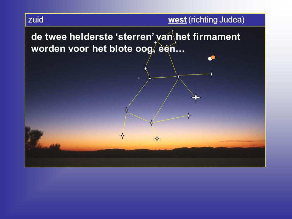 zuid west (richting Judea)