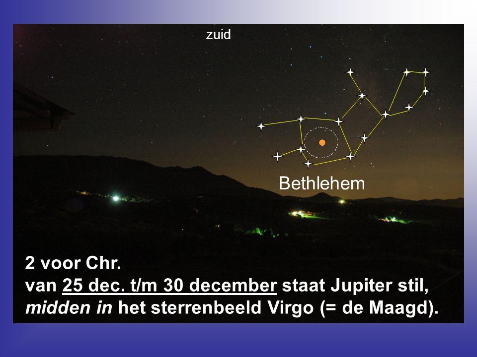 zuid Bethlehem. 2 voor Chr. van 25 dec.