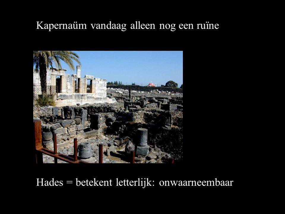 Kapernaüm vandaag alleen nog een ruïne