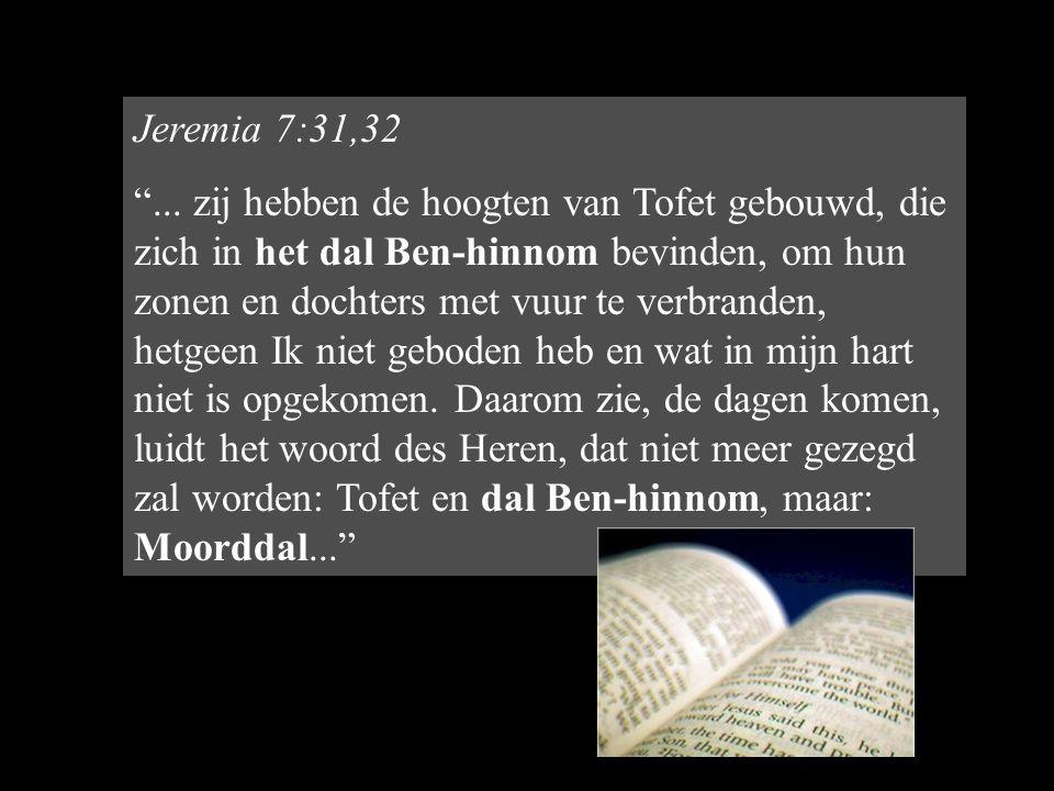 Jeremia 7:31,32