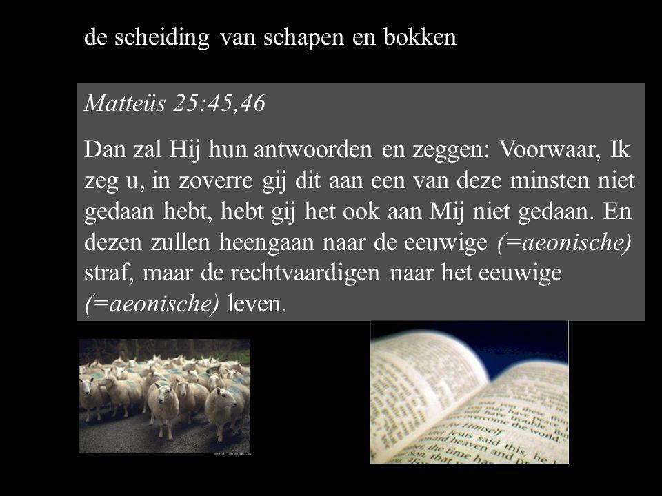 de scheiding van schapen en bokken