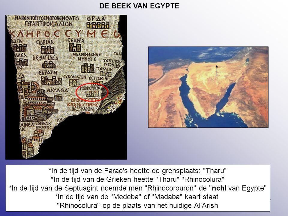 *In de tijd van de Farao s heette de grensplaats: Tharu