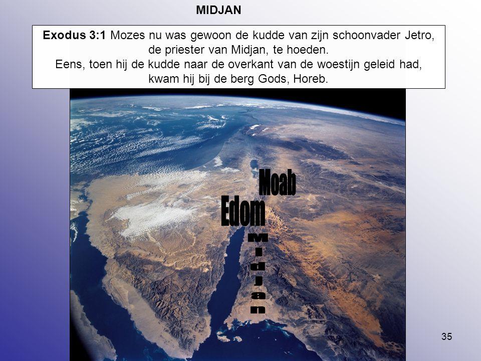 Moab Edom Midjan MIDJAN
