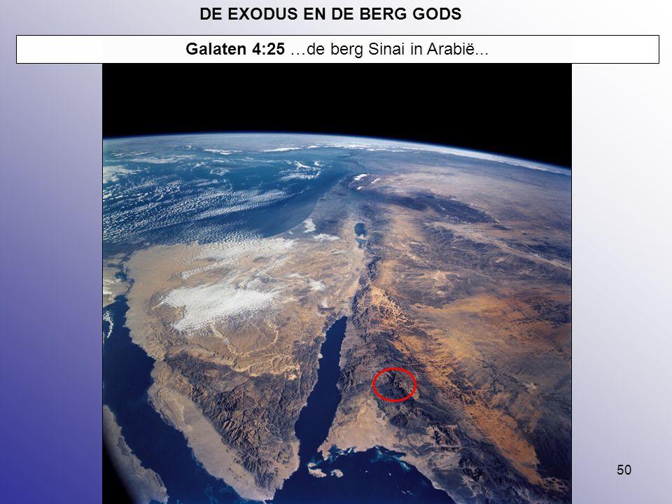 DE EXODUS EN DE BERG GODS