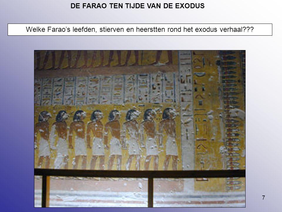 DE FARAO TEN TIJDE VAN DE EXODUS