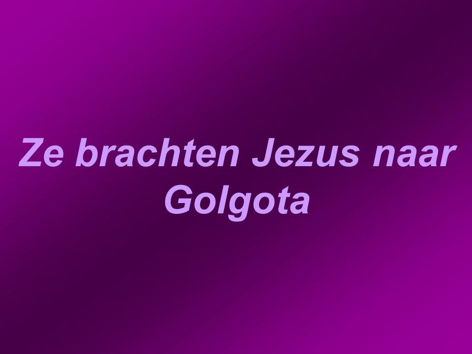 Ze brachten Jezus naar Golgota