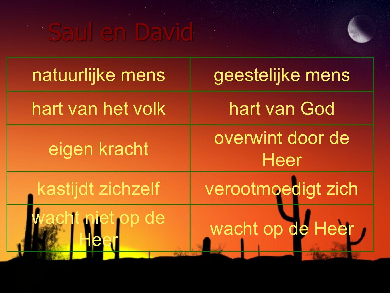 Saul en David natuurlijke mens geestelijke mens hart van het volk