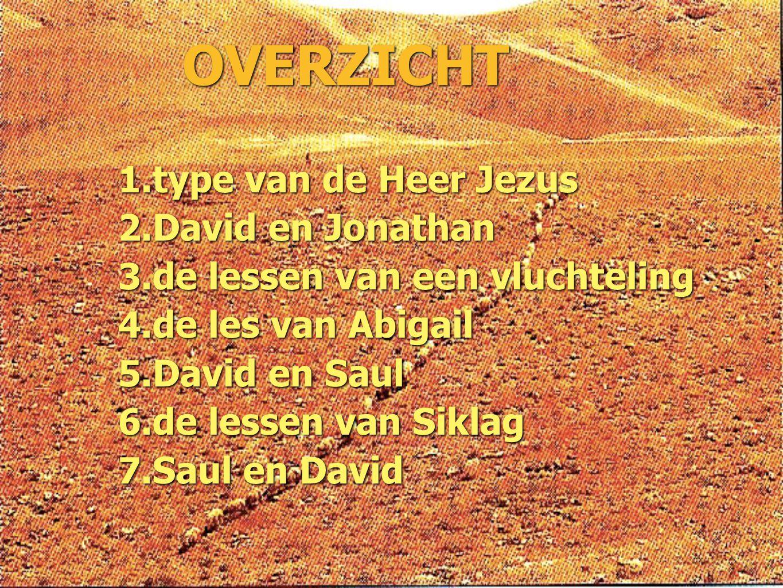 OVERZICHT type van de Heer Jezus David en Jonathan