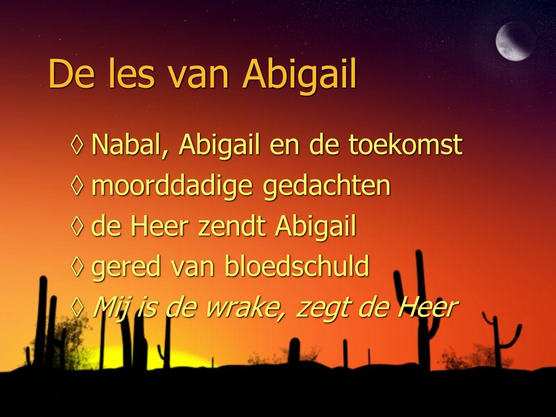 De les van Abigail Nabal, Abigail en de toekomst moorddadige gedachten