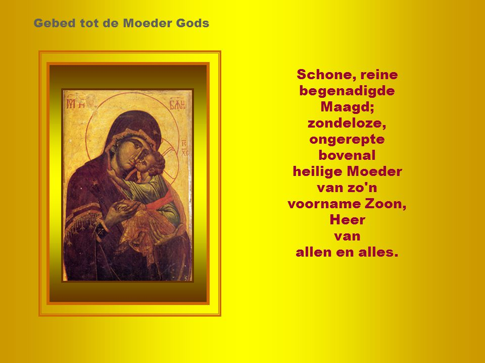 zondeloze, ongerepte bovenal heilige Moeder van zo n