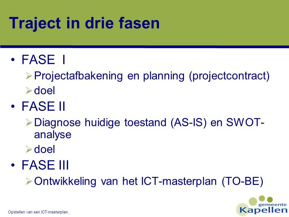 Traject in drie fasen FASE I FASE II FASE III