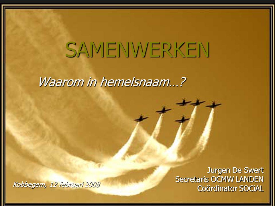 SAMENWERKEN Waarom in hemelsnaam… Jurgen De Swert