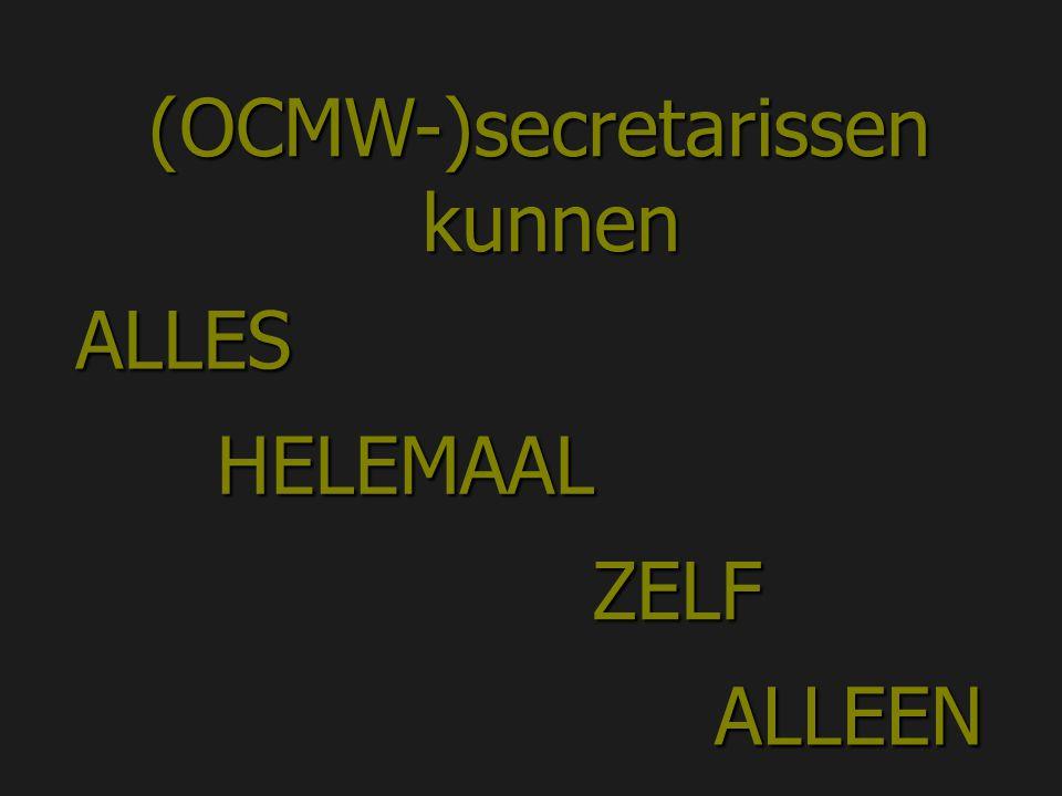 (OCMW-)secretarissen kunnen