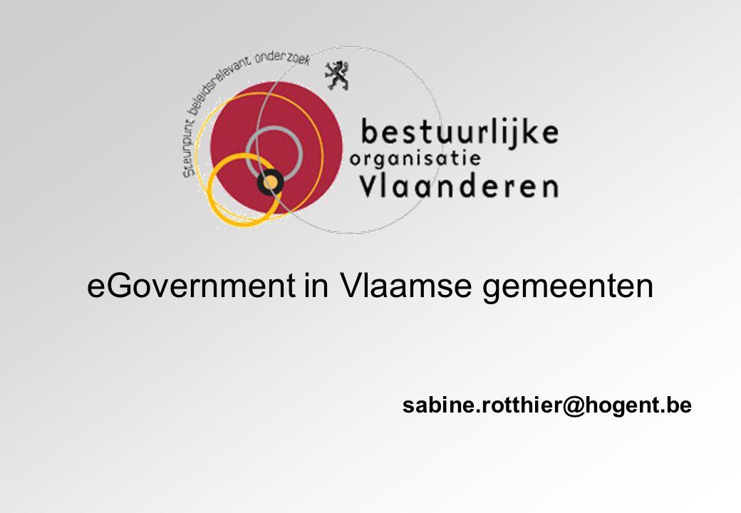 eGovernment in Vlaamse gemeenten
