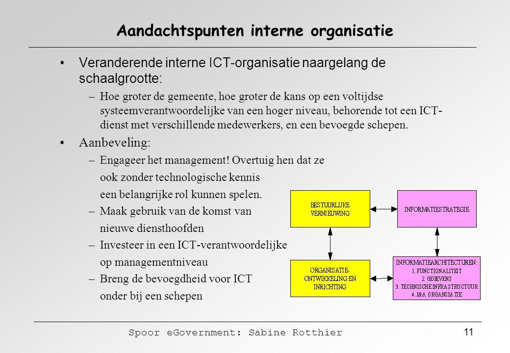 Aandachtspunten interne organisatie