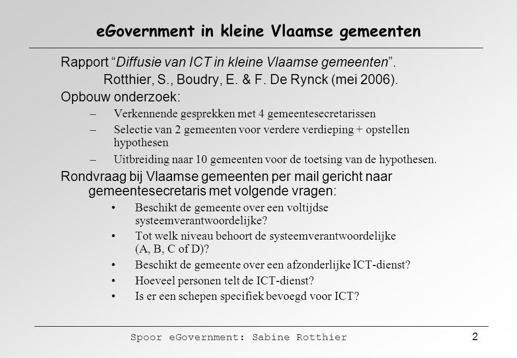 eGovernment in kleine Vlaamse gemeenten