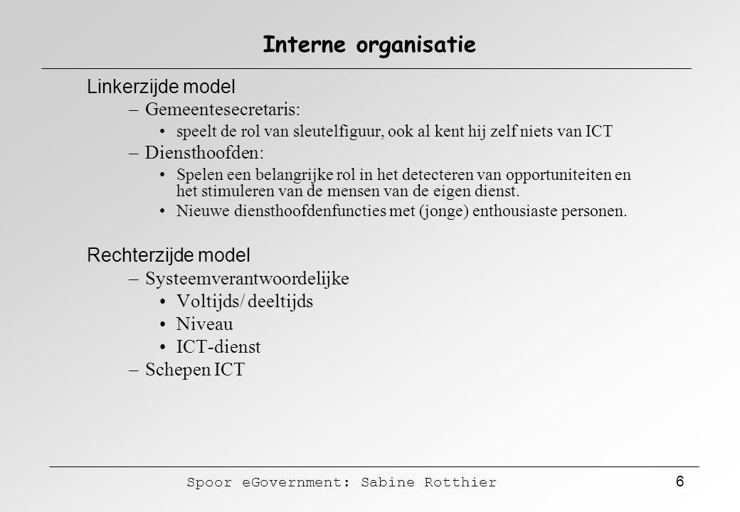 Interne organisatie Linkerzijde model Gemeentesecretaris: