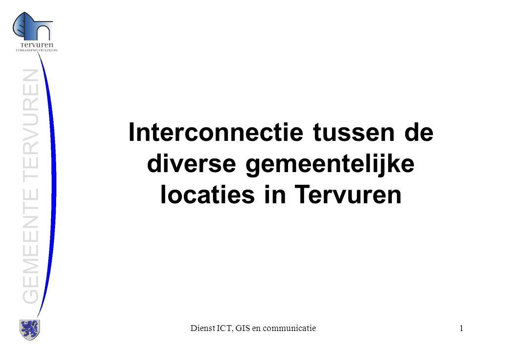 Interconnectie tussen de diverse gemeentelijke locaties in Tervuren