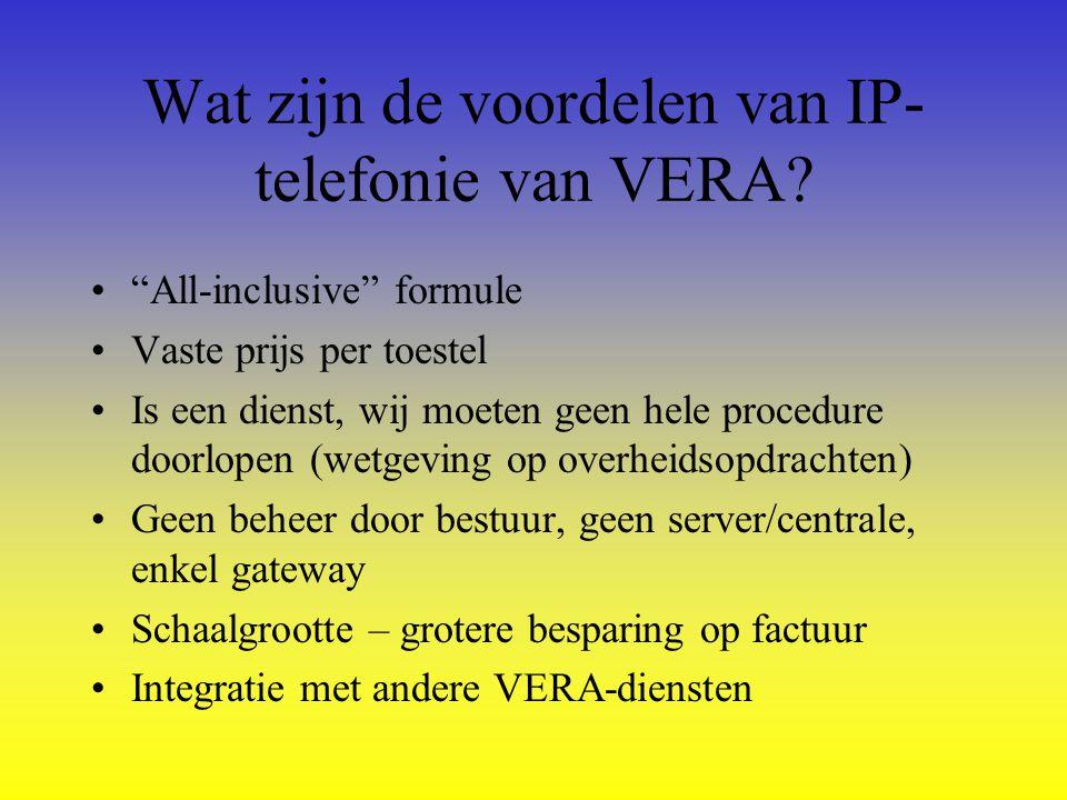 Wat zijn de voordelen van IP-telefonie van VERA