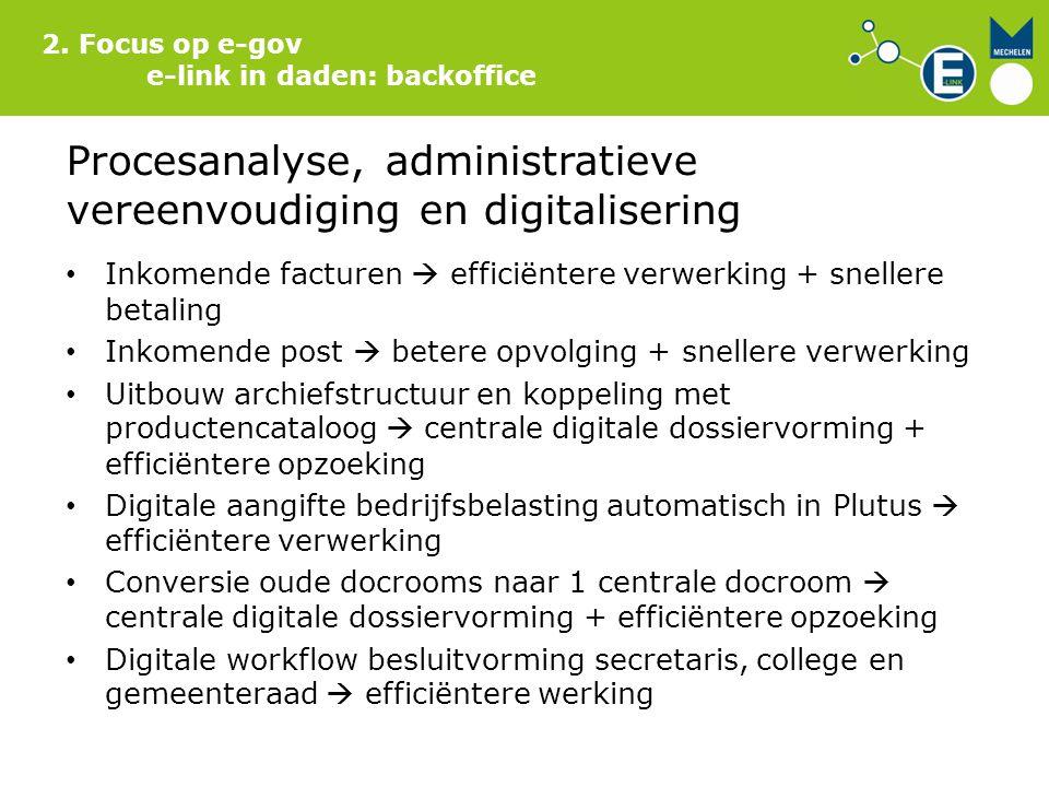Procesanalyse, administratieve vereenvoudiging en digitalisering
