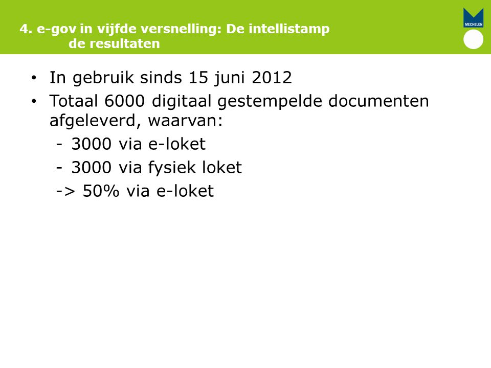 Totaal 6000 digitaal gestempelde documenten afgeleverd, waarvan: