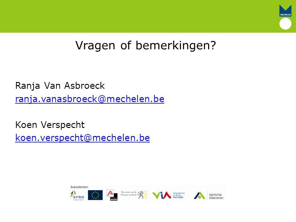 Vragen of bemerkingen Ranja Van Asbroeck