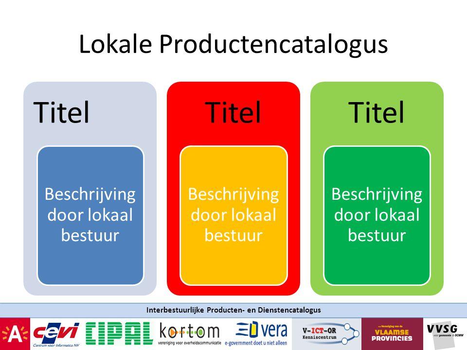 Lokale Productencatalogus