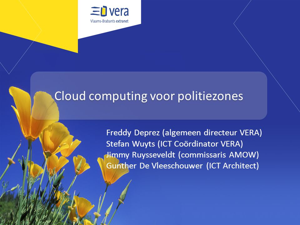 Cloud computing voor politiezones