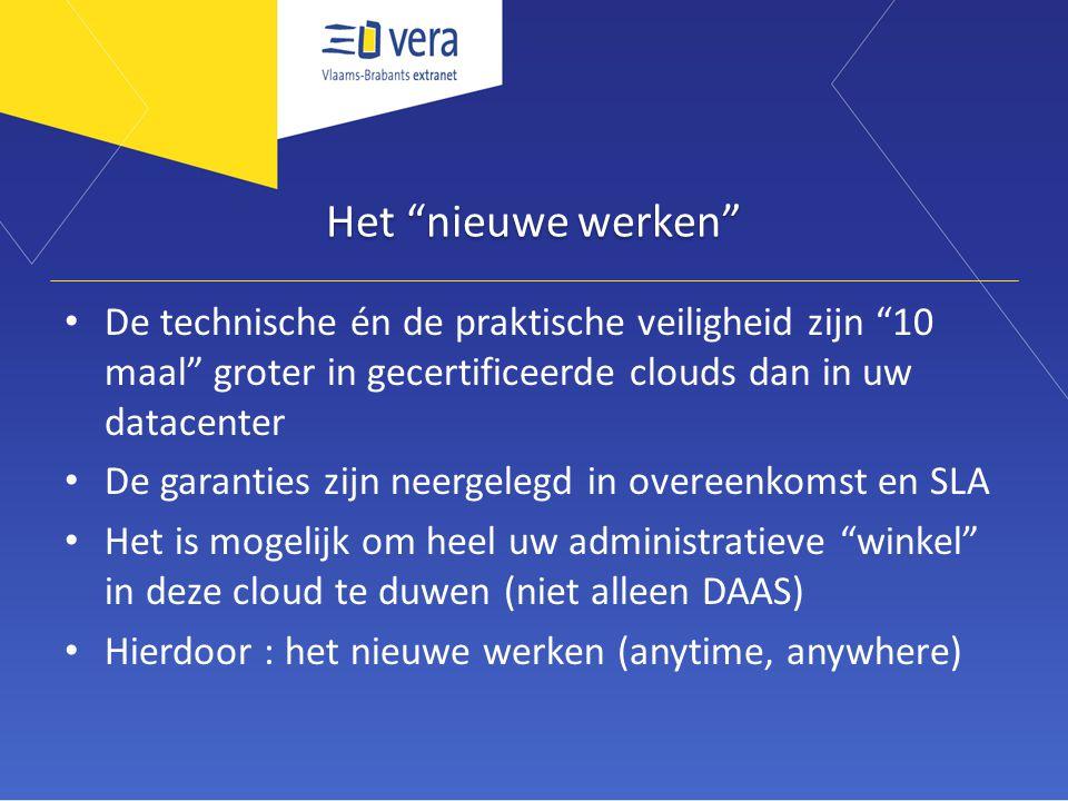 Het nieuwe werken De technische én de praktische veiligheid zijn 10 maal groter in gecertificeerde clouds dan in uw datacenter.