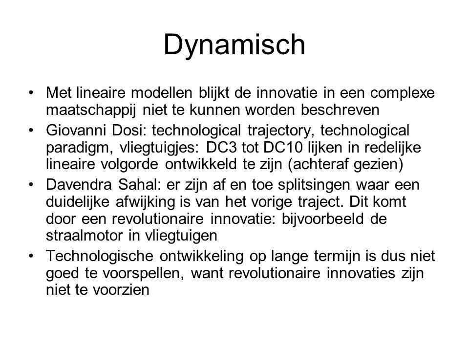 Dynamisch Met lineaire modellen blijkt de innovatie in een complexe maatschappij niet te kunnen worden beschreven.