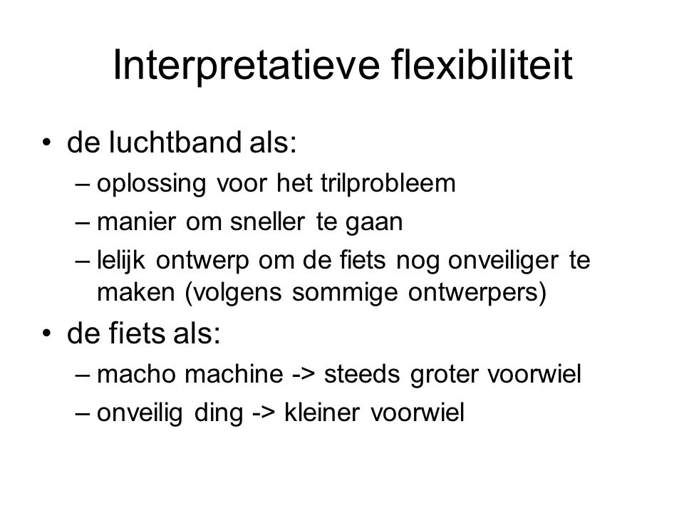 Interpretatieve flexibiliteit