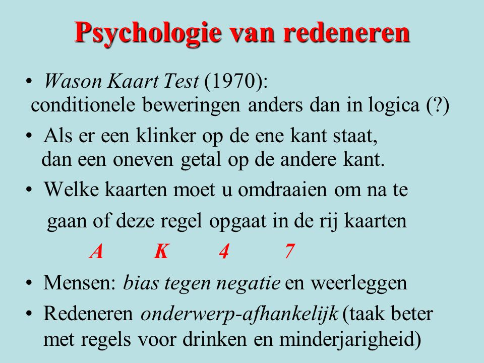 Psychologie van redeneren